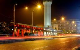 Quadrato di città di Bandung alla notte Fotografia Stock