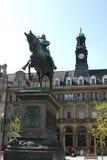 Quadrato di città di Leeds Fotografia Stock Libera da Diritti