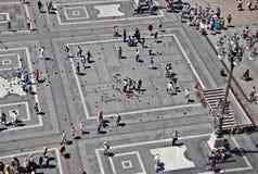 Quadrato di città di Milano Immagine Stock Libera da Diritti