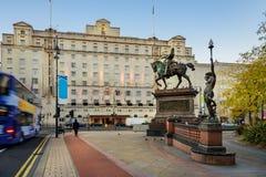 Quadrato di città - Leeds, Inghilterra Fotografie Stock