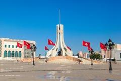 Quadrato di città principale a Tunisi fotografia stock