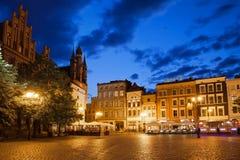 Quadrato di Città Vecchia di notte a Torum Fotografie Stock Libere da Diritti