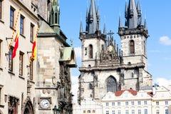 Quadrato di Città Vecchia, Praga Fotografie Stock