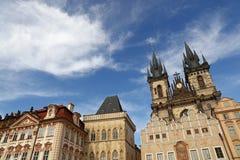 Quadrato di Città Vecchia a Praga, ceca Immagini Stock