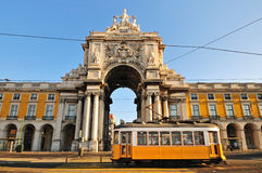 Quadrato di commercio, Lisbona Fotografie Stock Libere da Diritti