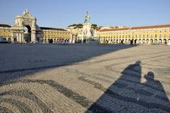 Quadrato di commercio, Lisbona Immagine Stock