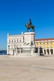 Quadrato di commercio a Lisbona, Portogallo fotografie stock libere da diritti