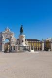 Quadrato di commercio a Lisbona, Portogallo fotografia stock libera da diritti
