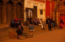 Quadrato di duba del Nepal Fotografia Stock