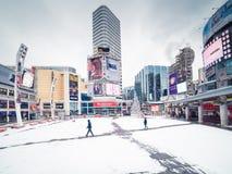 Quadrato di Dundas & di Yonge Fotografie Stock