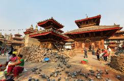 Quadrato di Durbar di Kathmandu Immagine Stock