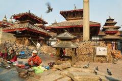 Quadrato di Durbar di Kathmandu Fotografia Stock