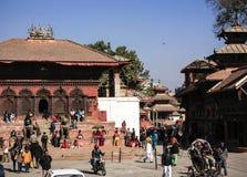 Quadrato di Durbar nel ¼ Œnepal del ï del tempio di ŒShiva-Parvati del ¼ di Kathmanduï Fotografie Stock