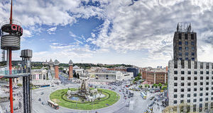 Quadrato di España della plaza a Barcellona Immagine Stock
