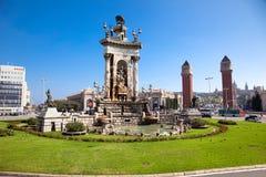 Quadrato di Espanya a Barcellona Fotografia Stock
