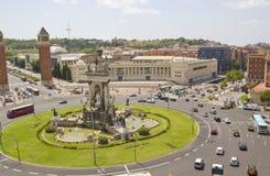 Quadrato di Espanya a Barcellona Fotografia Stock Libera da Diritti