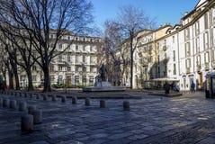 Quadrato di Giardino Bottero a Torino Piemonte, Italia immagini stock libere da diritti