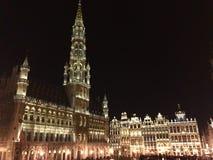 Quadrato di Grand Place a Bruxelles, Belgio immagine stock