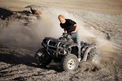 Quadrato di guida dell'adolescente - veicolo a quattro ruote Fotografia Stock