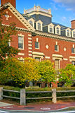 Quadrato di Harvard, Cambridge Immagine Stock