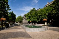 Quadrato di Hviezdoslav a Bratislava, Slovacchia Fotografie Stock