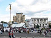 Quadrato di indipendenza a Kiev, Ucraina immagini stock libere da diritti