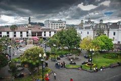 Quadrato di indipendenza a Quito Immagini Stock Libere da Diritti
