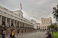 Quadrato di indipendenza a Quito fotografia stock