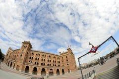 Quadrato di Las Ventas e sottopassaggio tramite un fish-eye, Madrid Fotografie Stock Libere da Diritti
