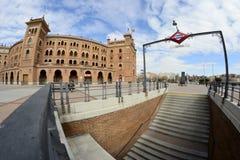 Quadrato di Las Ventas e sottopassaggio tramite un fish-eye, Madrid Immagine Stock Libera da Diritti