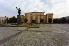 Quadrato di Lenin nel centro urbano di Voronež Fotografie Stock Libere da Diritti