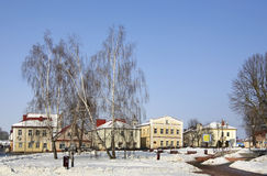 Quadrato di Lenin in Slonim belarus Fotografia Stock
