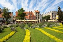 Quadrato di Livu, Riga, Lettonia Immagini Stock Libere da Diritti