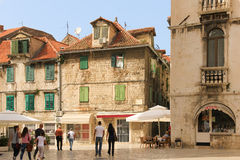 Quadrato di Marulic spaccatura La Croazia fotografia stock libera da diritti