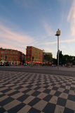 Quadrato di Massena della plaza nella città di Nizza Fotografia Stock Libera da Diritti