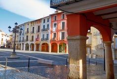 Quadrato di Mercat della plaza di Xativa a Valencia immagine stock libera da diritti