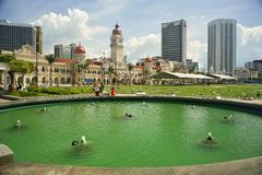 Quadrato di Merdeka in Kuala Lumpur Fotografia Stock Libera da Diritti