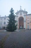 Quadrato di Moncalvo, una cittadina vicino ad Asti, Piemonte, famoso per Fotografia Stock Libera da Diritti
