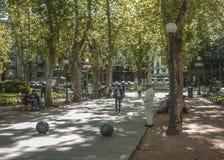Quadrato di Montevideo Immagini Stock Libere da Diritti