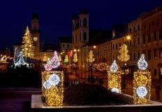 Quadrato di Natale in Banska Bystrica Fotografia Stock Libera da Diritti