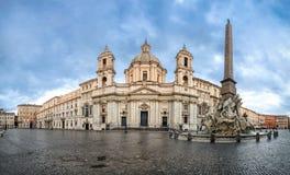 Quadrato di Navona della piazza a Roma, Italia immagine stock libera da diritti