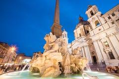 Quadrato di Navona a Roma, Italia Immagine Stock Libera da Diritti