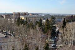 Quadrato di Novosobornaya da un'altezza Fotografia Stock Libera da Diritti