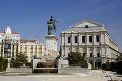 Quadrato di Oriente, Madrid Fotografia Stock