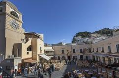 Quadrato di Piazzetta in Capri Immagine Stock Libera da Diritti