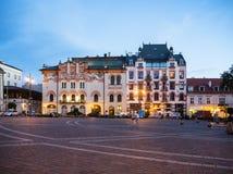 Quadrato di Plac Szczepanski in Karkow, Polonia Immagine Stock
