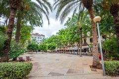 Quadrato di Placa del Parc in Pacha, Ibiza fotografia stock