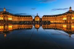 Quadrato di Place de la Bourse nella città del Bordeaux fotografia stock libera da diritti