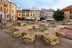 Quadrato di Po Farze situato in Città Vecchia a Lublino, Polonia Immagini Stock
