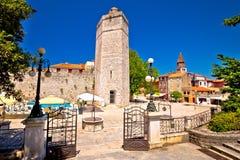 Quadrato di pozzi di Zadar cinque e vista storica di architettura Immagini Stock